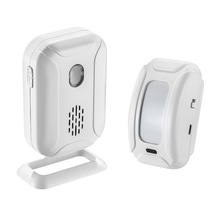 Wireless Remote Control PIR Motion sensor door bell alarm Infrared Welcome Doorbell Alarm 433MHz Micro USB and Battery Power