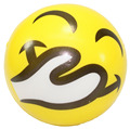 Mini Fun Happy Smile Face Stress Foam Squeeze Bouncy Soccers for Parties, Decorating