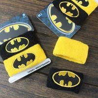 New Cotton Sports Band Wristband Batman Wrist Support Protector Sweatband Basketball Tennis Badminton