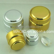aluminum gold cosmetic jars