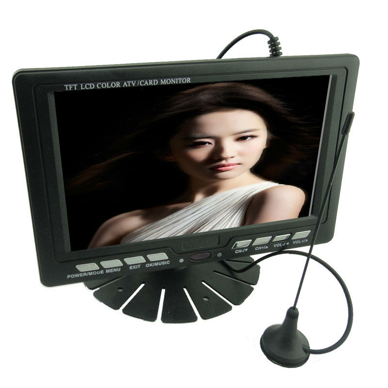 7 inch portable tv with tv tuner and radio
