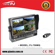 Hot Sale 7 Inches Quad Screen High Brightness Monitor Rear View & Surveillance for Commercial Vehicle