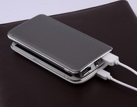 Dual USB port 10000mah mobile power bank/mobile power supply with LED flashlight for iPad