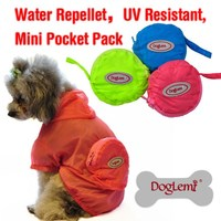 Dog overcoat Dog Rain Clothes Waterproof Coat Jackets for Dogs Pet Products 2 Colors Breath Free Overall with Cap
