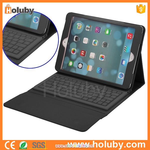 New Arrival Folding Bluetooth Keyboard With Flip Protective Leather Case for iPad Air