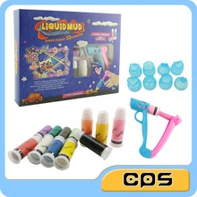 3D diy colorful play dough drawing liquid mud set