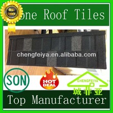 Africa colorful sand stone coated roof shingle