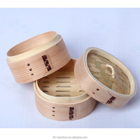 Great Quality Eco-friendly square shaped Japanese cedar wooden steamers Handmade bamboo food steamer for sale