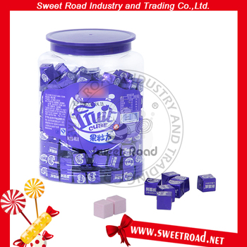 Blueberry Flavor Milk Cube Candy