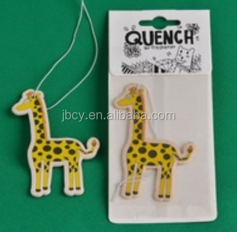 2015 cute giraffe paper car air fresheners