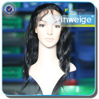 brazilian synthetic human hair virgin full lace wig for black women