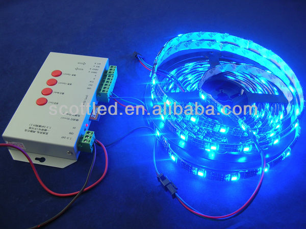 5V 30LEDs WS2811 IP65 RGB led flexible strip / strand, Black PCB