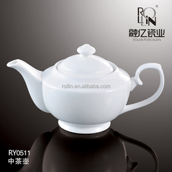 Euro style hotel restaurant used wedding banquet dinnerware super pure white porcelain tea pot