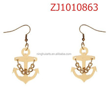 2015 earrings Jewelry European Hot Sale Jewelry And American Fashion Personality Style Anchor Earrings For Women