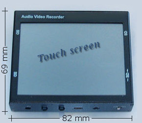 Micro digital audio/video recorder touchscreen