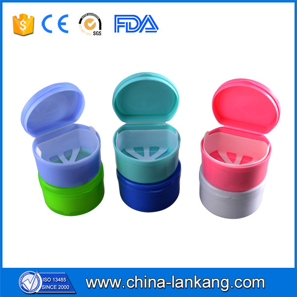 2016 Dental Case Container Box Denture Bath With Basket