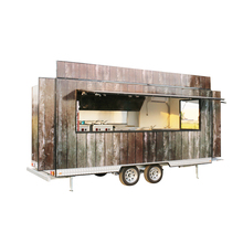 FV-55 st fast large food carts for fast bbq food van with wheels mobile outdoor kiosk for food