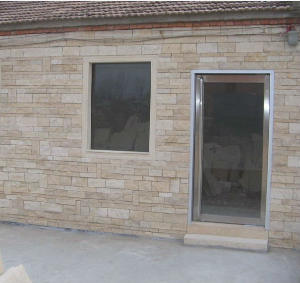 yellow limestone brick