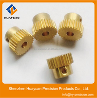 Factory custom small brass Straight Tooth Spur Gear for toys