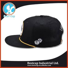 National china supplier fashion custom 5 panel snapback hat
