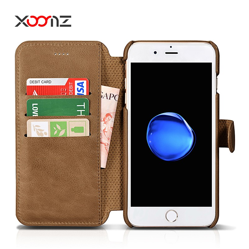 XOOMZ Universal smart phone wallet style leather case for iphone 7