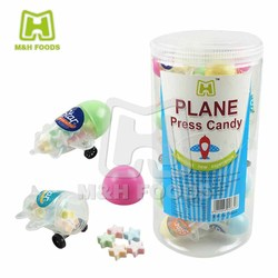 Plane Shape Star Bottle Pressed Candy For Kid