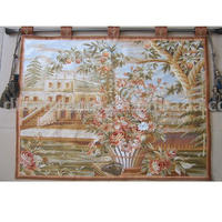 Polyester machine embroidered wall tapestry