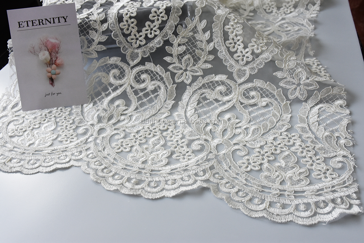 hot hot hot - cord embroidered fabric