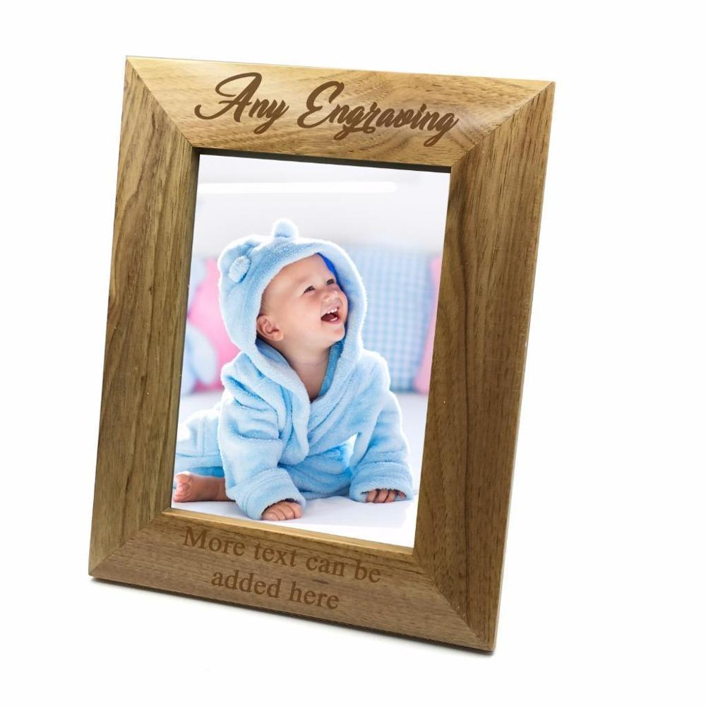 Personalised Wooden Photo 8 x 10 Frame Custom Engraved Any Message