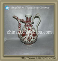 blue and white antique ceramic teapot RYVK07