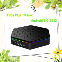 2016 Latest model S912 Octa core CPU android 6.0 internet tv box T95z Plus internet tv set top box