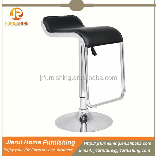 Cheap design PVC leather bar stool/bar chair with metal fram footrest JR-2090