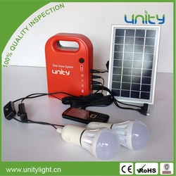 Portable Emergency Solar Power Kits for Camping with Bulbs