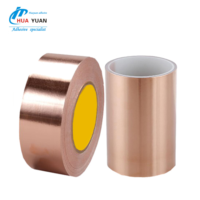 High quality conductive colored copper foil double sided foam adhesive tape