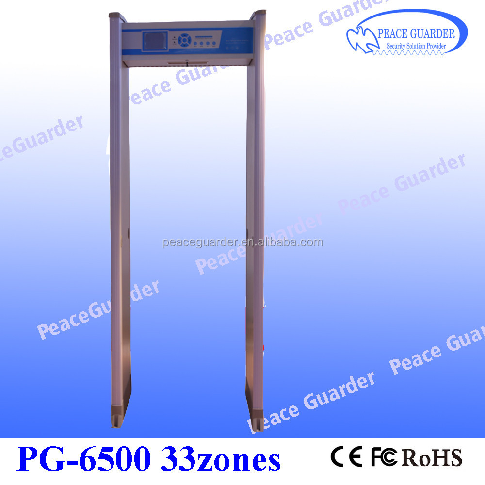Best walk through metal detector gate with 33zone body scanner for security check PG6500