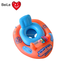 Most popular inflatable orange color boat and funny floating inflatable boat for kids