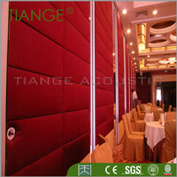 Office movable partition wooden panel door design
