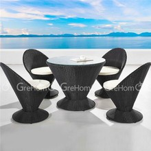 rattan garden line patio furniture for coffe shop