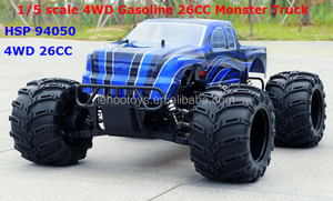 2.4G RC 1/5 scale 4WD Gasoline 26CC Engine Powered Off-road Monster Truck HSP truck 94050 RC cars for big boy