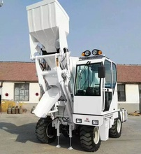 High efficiency 3m3 automatic self loading concrete mixer truck for hot sale