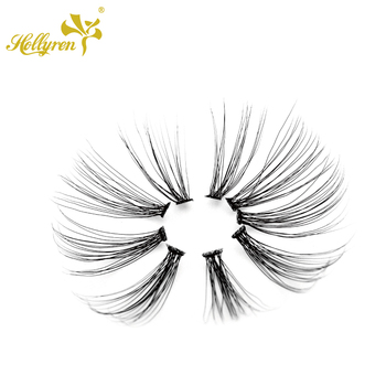Private Label Rapid Cluster Lash 0.03 Flare 20D Eyelash Extensions OEM
