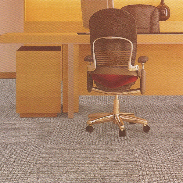100% PP commercial office felt 50 x 50 carpet tiles, cheap bitumen backing stripe carpet