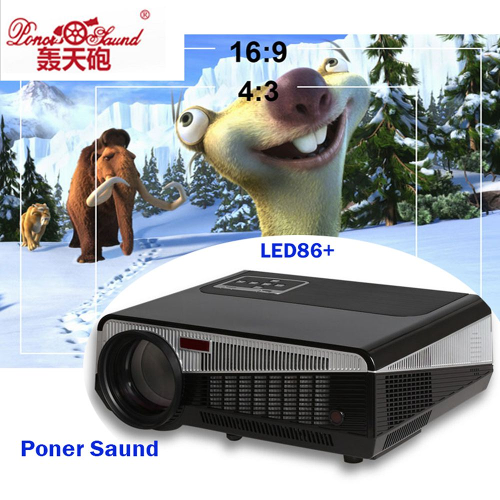 HTP LED - 86 - d home projector office intelligent hd 3 d projector surround sound