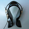 top level elegant black acrylic headphones display stand for retail shop promotional