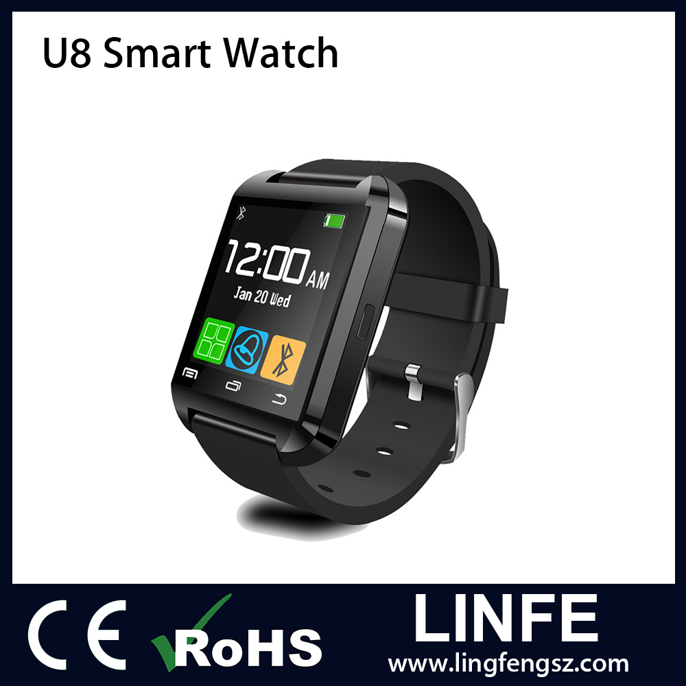 Hot Sale 2016 Promotional Gift U8 Smart Watch for Smart Phone Smartwatch U8