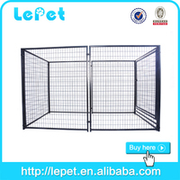 2015 hot selling metal silver double dog kennel