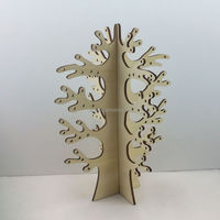 Home decor customized laser cut wooden christmas tree