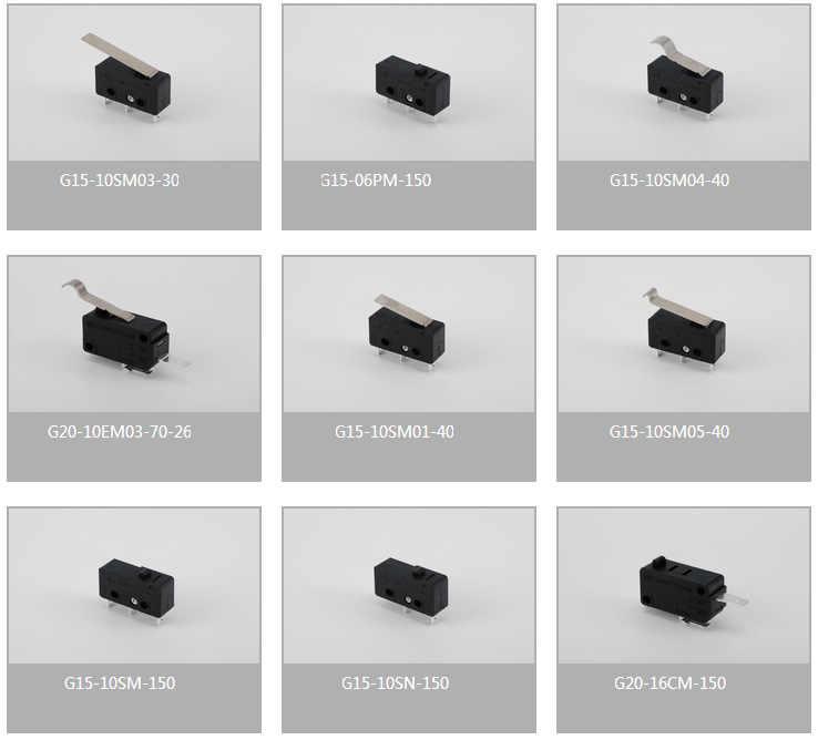 Gangyuan Manufacture Microswitch with Roller t125 5e4