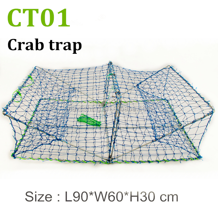 Folding fishing stainless steel wire crab trap