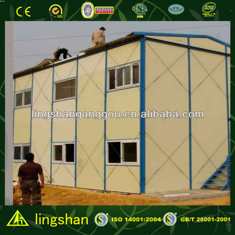 Cost Saving Light Frame Structure Prefab House/Labor Camp/Temporary Office in South Affrica